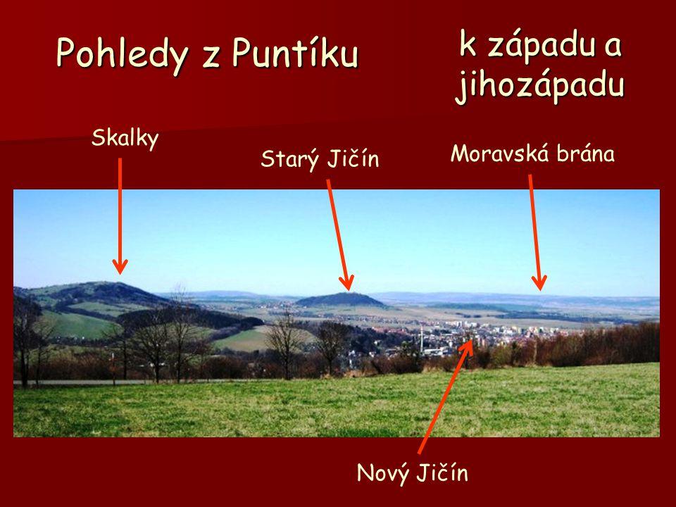 Pohledy z Puntíku Skalky Starý Jičín Moravská brána Nový Jičín k západu a jihozápadu
