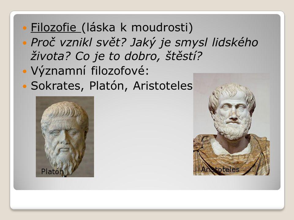 """Sokrates sám své učení nikdy nesepsal většinou zapřádal dlouhé rozhovory s Athéňany slavný výrok: """"Vím, že nic nevím! odsouzen k smrti vypitím číše bolehlavu za údajné kažení mládeže a bezbožnost Sokratovu vynikající řeč před soudem sepsal jeho žák Platón – Obrana Sókratova Sokratova smrt"""