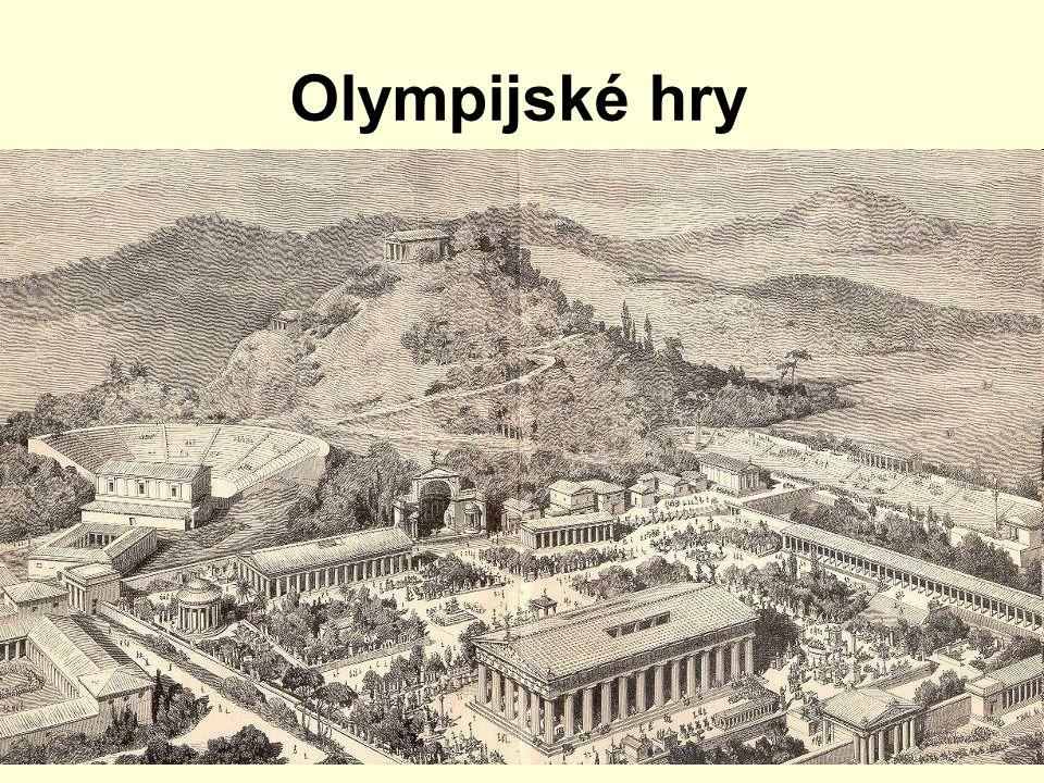 Olympijské hry r.1896 byla obnovena tradice Pierrem de Coubertinem první se konaly r.