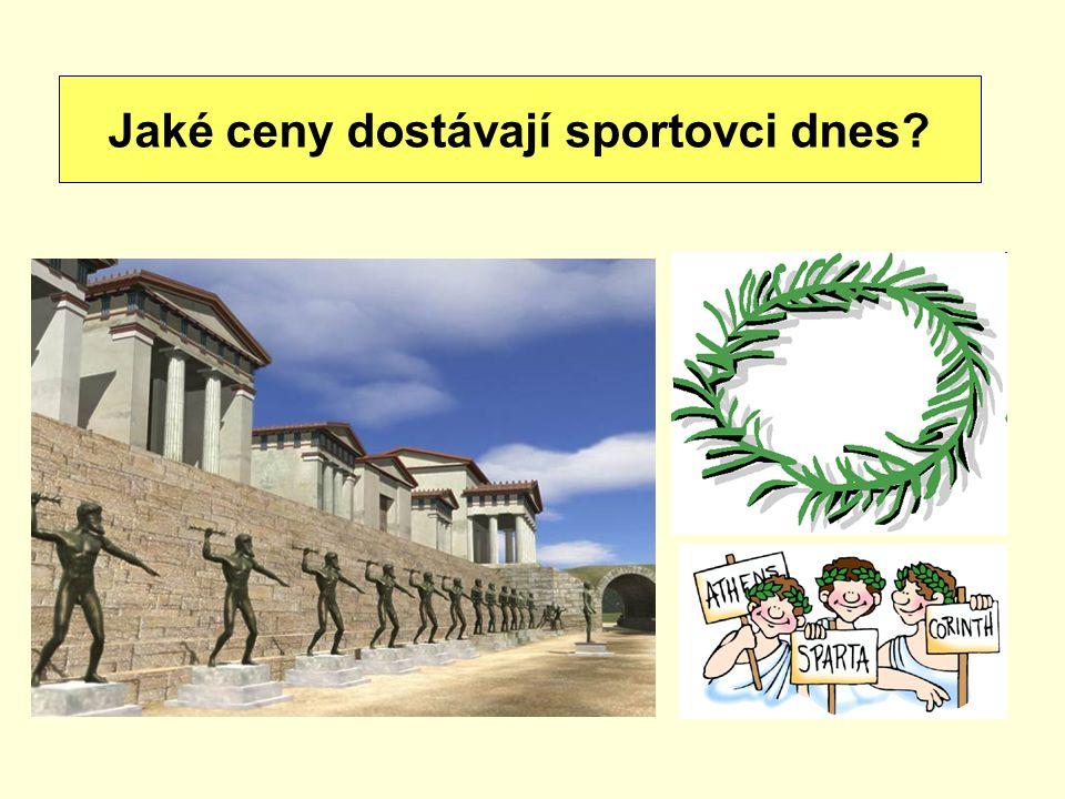 vítěz dostal olivový věnec, byla mu postavena socha… Jaké ceny dostávají sportovci dnes?