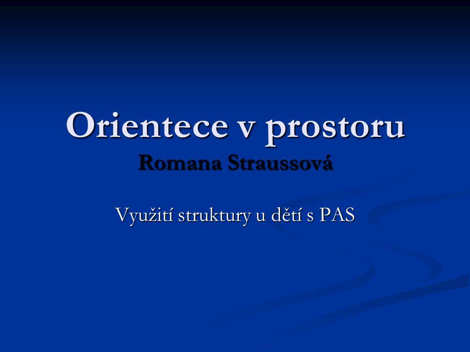 Orientece v prostoru Romana Straussová Využití struktury u dětí s PAS