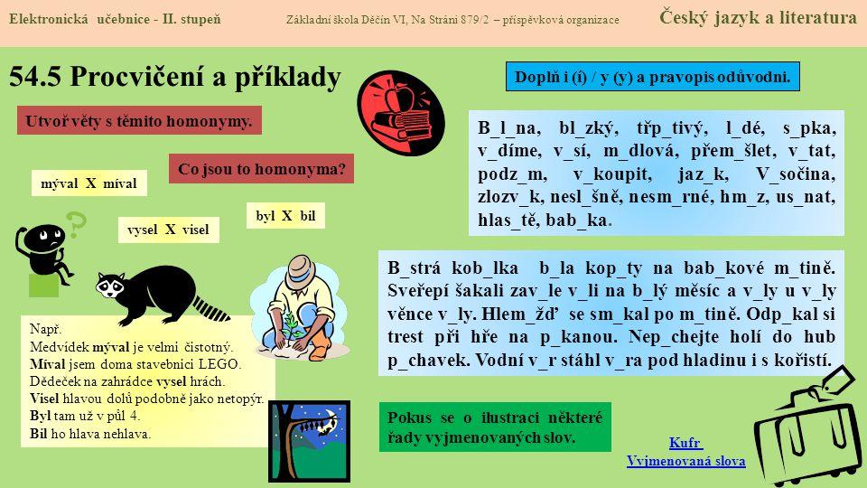 54.5 Procvičení a příklady Elektronická učebnice - II.