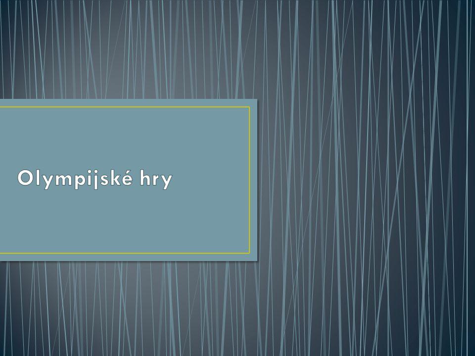 První olympijské hry se konaly v r. 776 př. n. l. v Olympii (západ Peloponéského poloostrova).