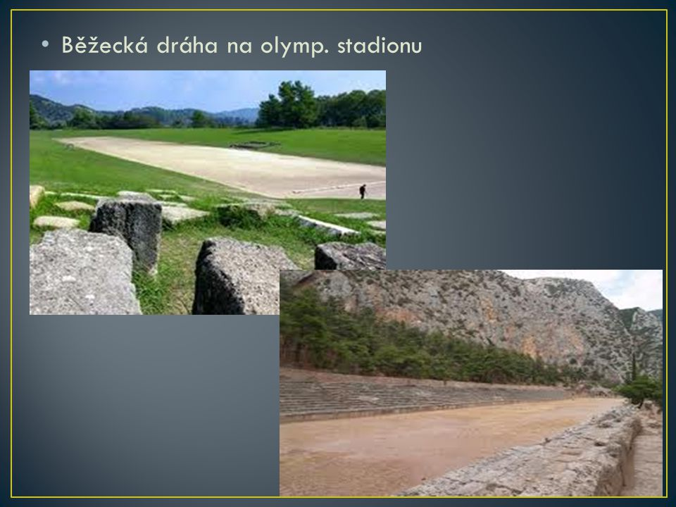 Běžecká dráha na olymp. stadionu