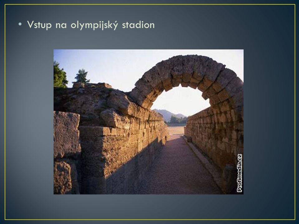 Vstup na olympijský stadion