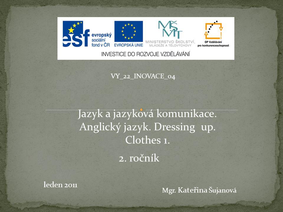 VY_22_INOVACE_04 leden 2011 Mgr.Kateřina Šujanová Jazyk a jazyková komunikace.
