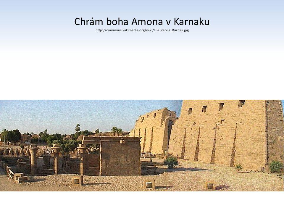 Chrám boha Amona v Karnaku http://commons.wikimedia.org/wiki/File:Parvis_Karnak.jpg