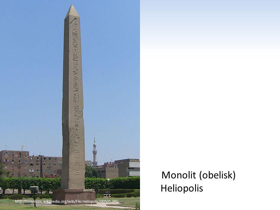 http://commons.wikimedia.org/wiki/File:Heliopolis200501.JPG Monolit (obelisk) Heliopolis