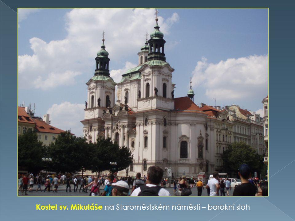 Kostel sv. Mikuláše na Staroměstském náměstí – barokní sloh