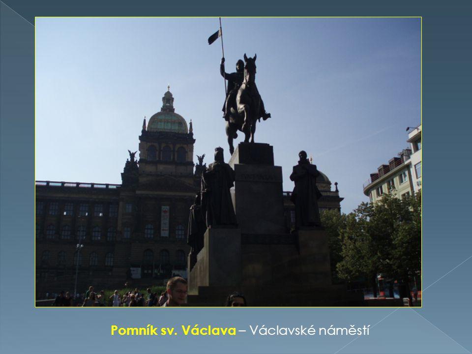 Pomník sv. Václava – Václavské náměstí