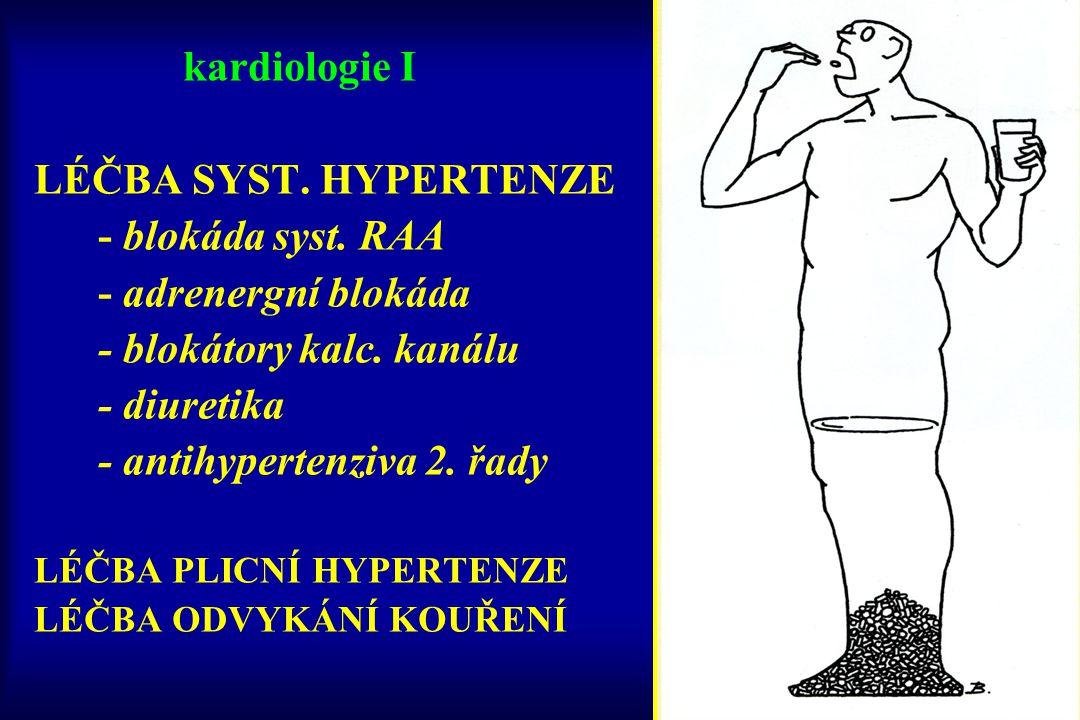DIURETIKA HENLEHO KLIČKY inhibice Na + /K + /2Cl - kotransportu v Henleho kličce (zvýšení exktrece iontů Na, K, Mg, H a vody) vysoký diuretický efekt rychlý a krátkodobý efekt efekt zachován i při renálním selhání široké dávkové spektrum výhodná u retence tekutin (plicní edém, otoky,…) nevhodná jako antihypertenziva (krátký efekt)