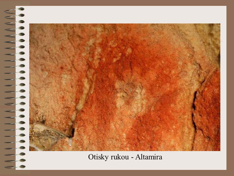 Otisky rukou - Altamira