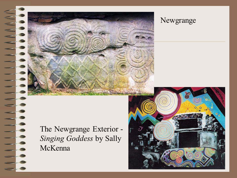 The Newgrange Exterior - Singing Goddess by Sally McKenna Newgrange