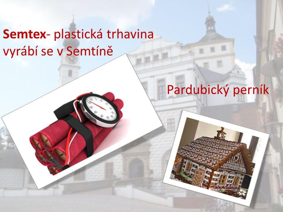 Pardubický perník Semtex- plastická trhavina vyrábí se v Semtíně