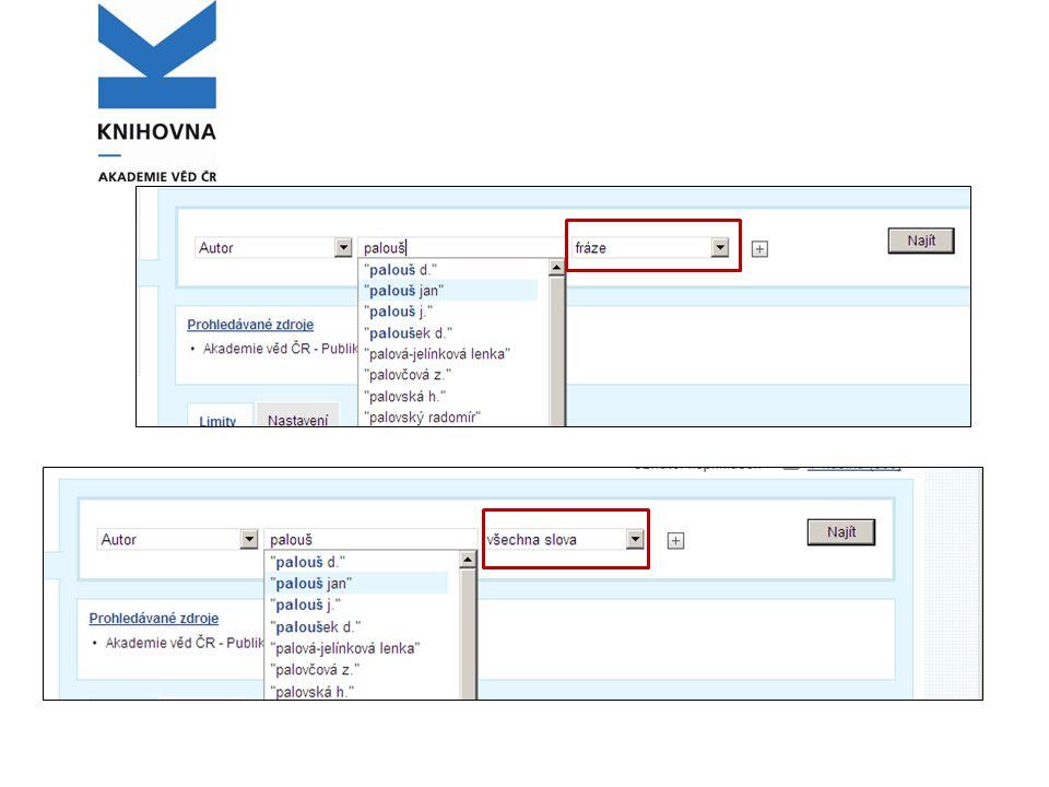 Vyhledání povinného výtisku Vyhledá záznam v SKC