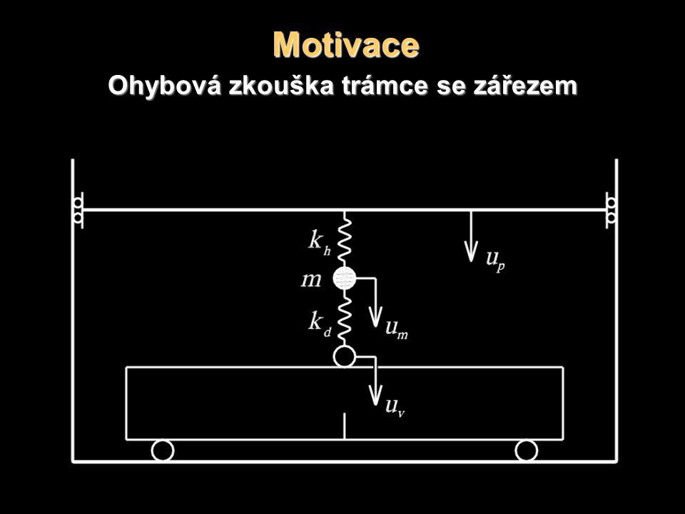 Motivace Ohybová zkouška trámce se zářezem