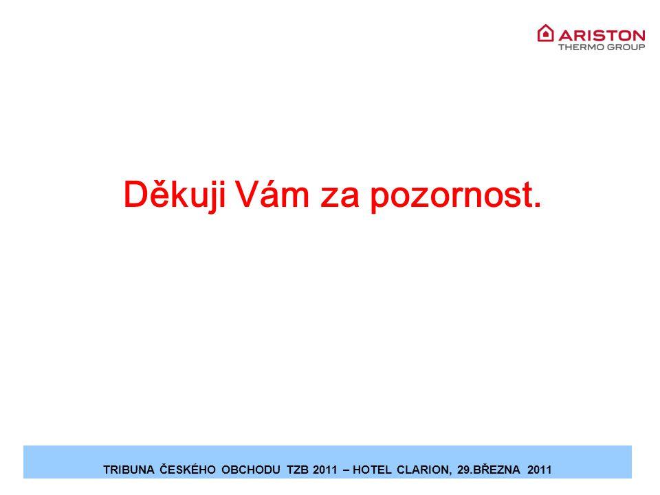 Děkuji Vám za pozornost. TRIBUNA ČESKÉHO OBCHODU TZB 2011 – HOTEL CLARION, 29.BŘEZNA 2011