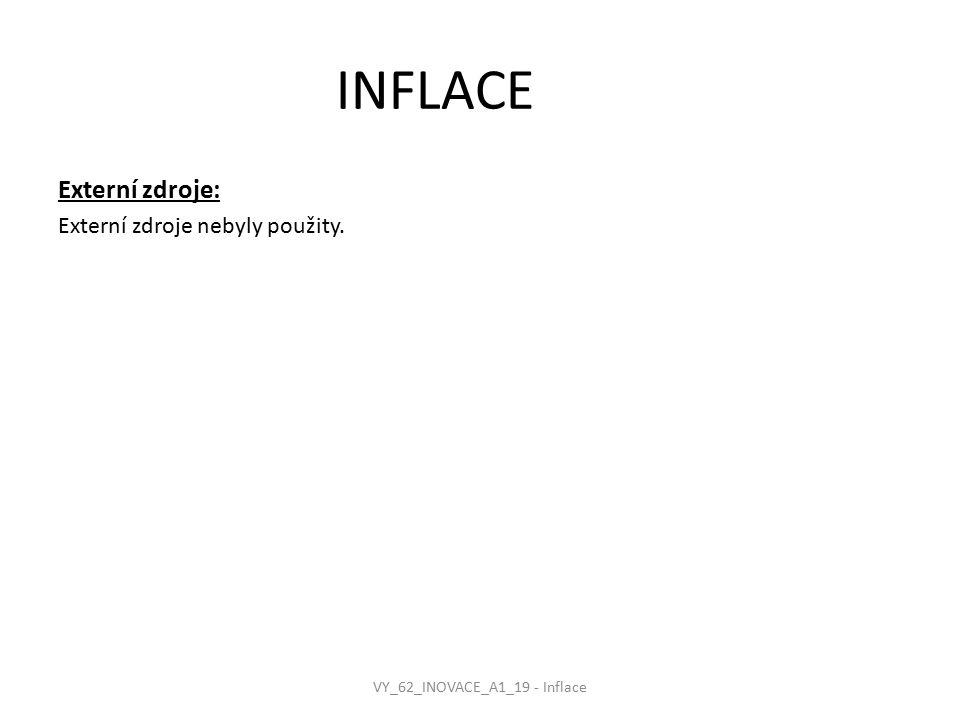 INFLACE Externí zdroje: Externí zdroje nebyly použity. VY_62_INOVACE_A1_19 - Inflace