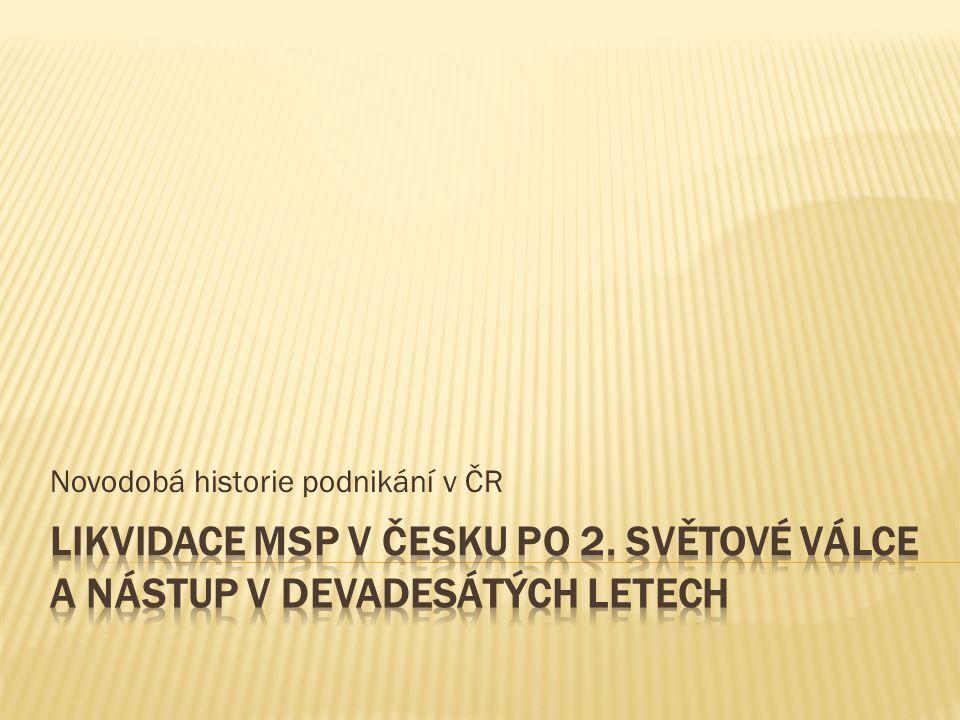 Novodobá historie podnikání v ČR