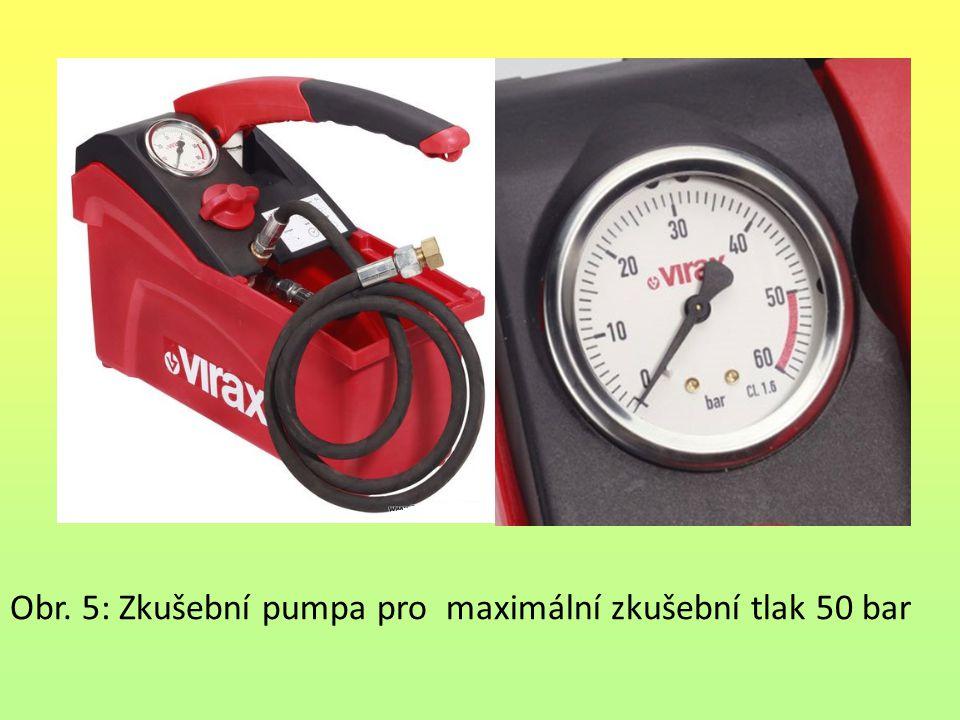 Obr. 5: Zkušební pumpa pro maximální zkušební tlak 50 bar