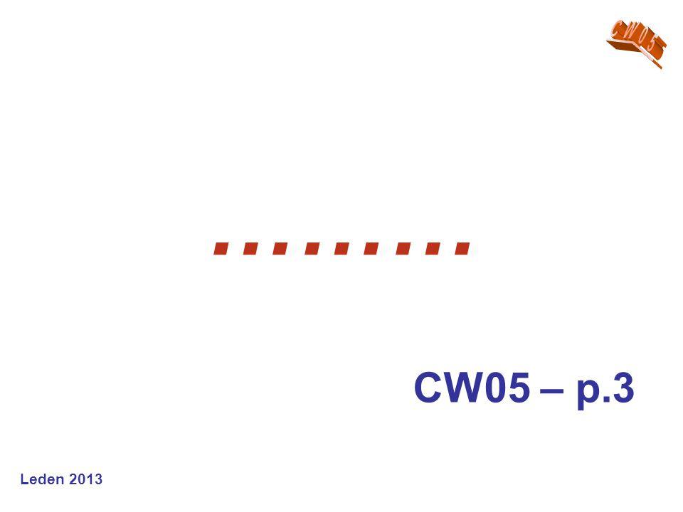 Leden 2013 ……… CW05 – p.3