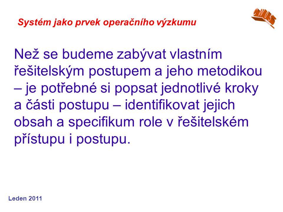 Leden 2009 Systém jako prvek operačního výzkumu Jak může simulace pomoci ….