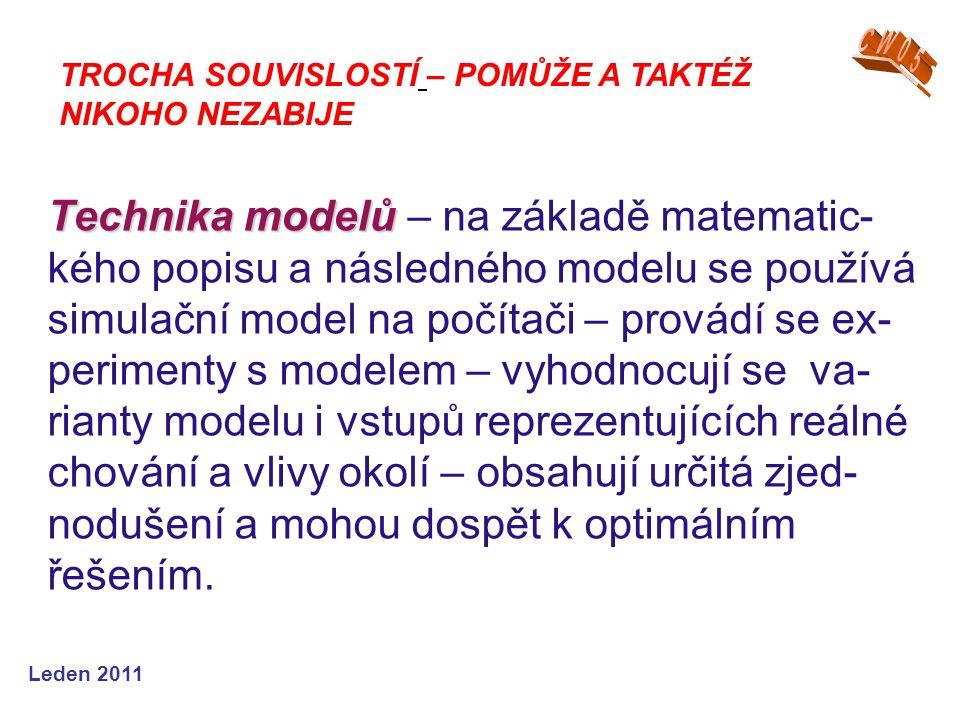 Leden 2011 Systém jako prvek operačního výzkumu Jak může simulace pomoci …?ZADRUHÉ….