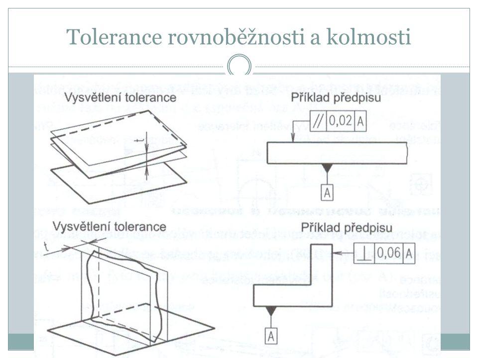 Tolerance rovnoběžnosti a kolmosti