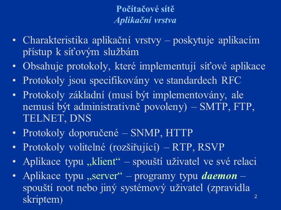"""23 Počítačové sítě DNS - typy záznamů Ukazatel na záznam v reverzní doméně (= in- addrr.arpa.) pro daný uzel (""""Domain Name Pointer Record ) [ttl] reverzní DN classPTRdoménové jméno 10.78.178.195."""