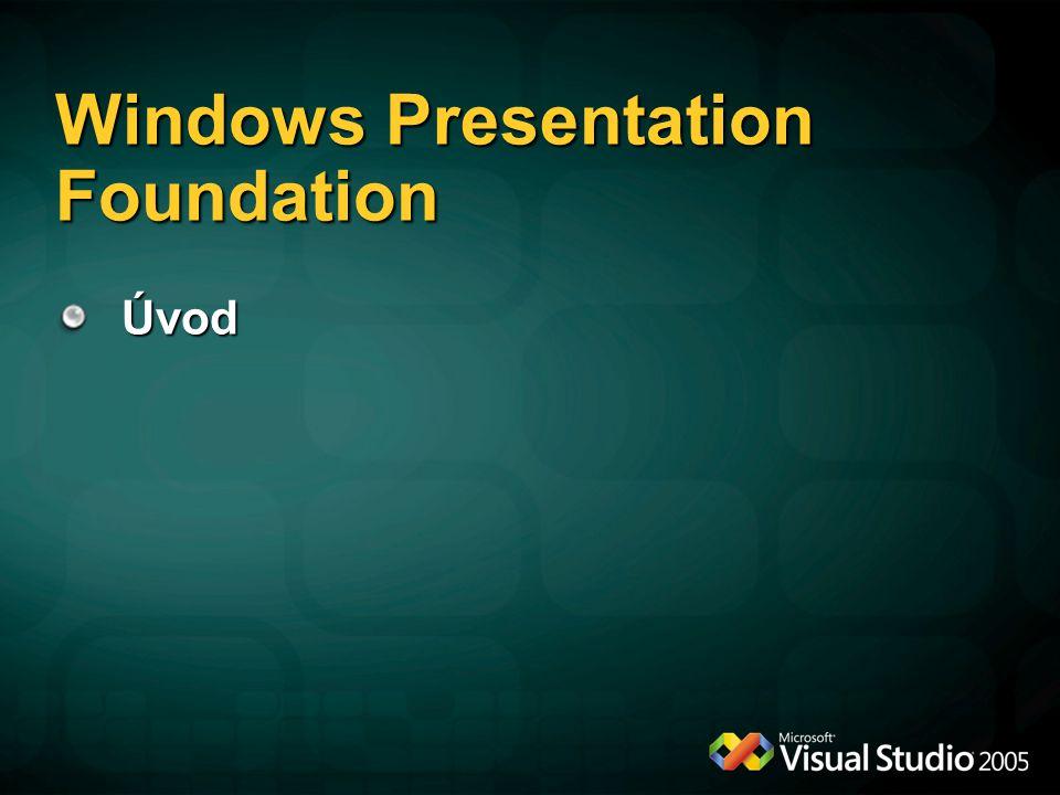 Windows Presentation Foundation Úvod