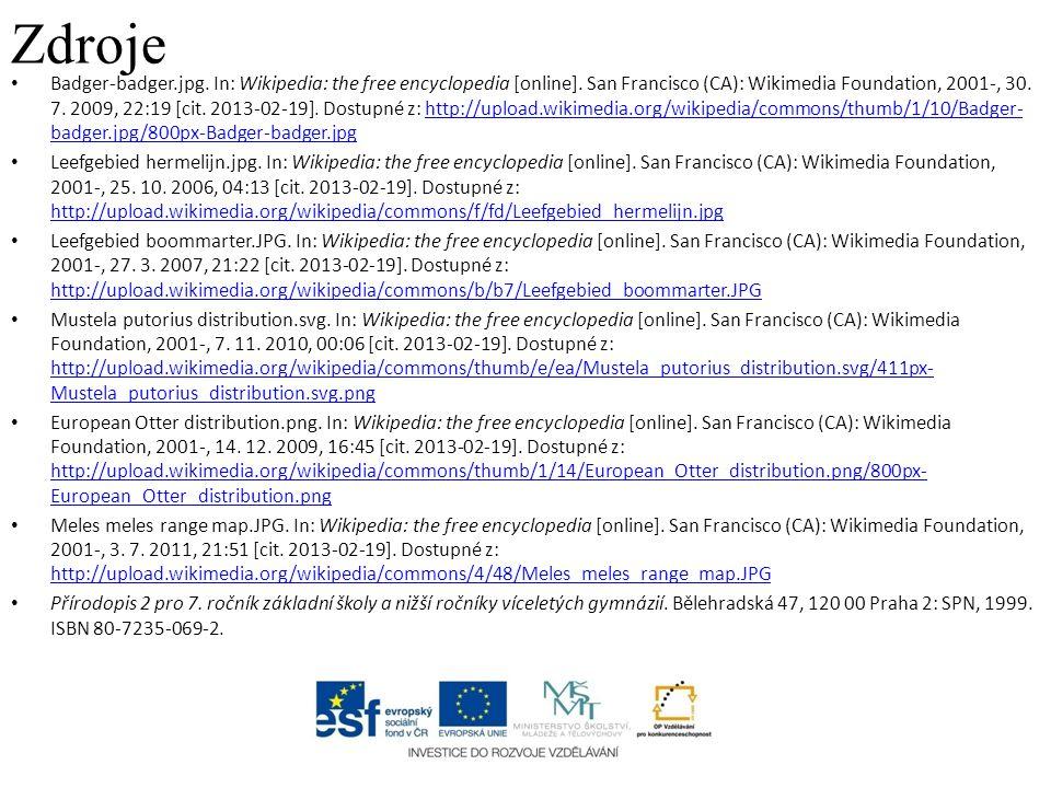 Zdroje Badger-badger.jpg.In: Wikipedia: the free encyclopedia [online].