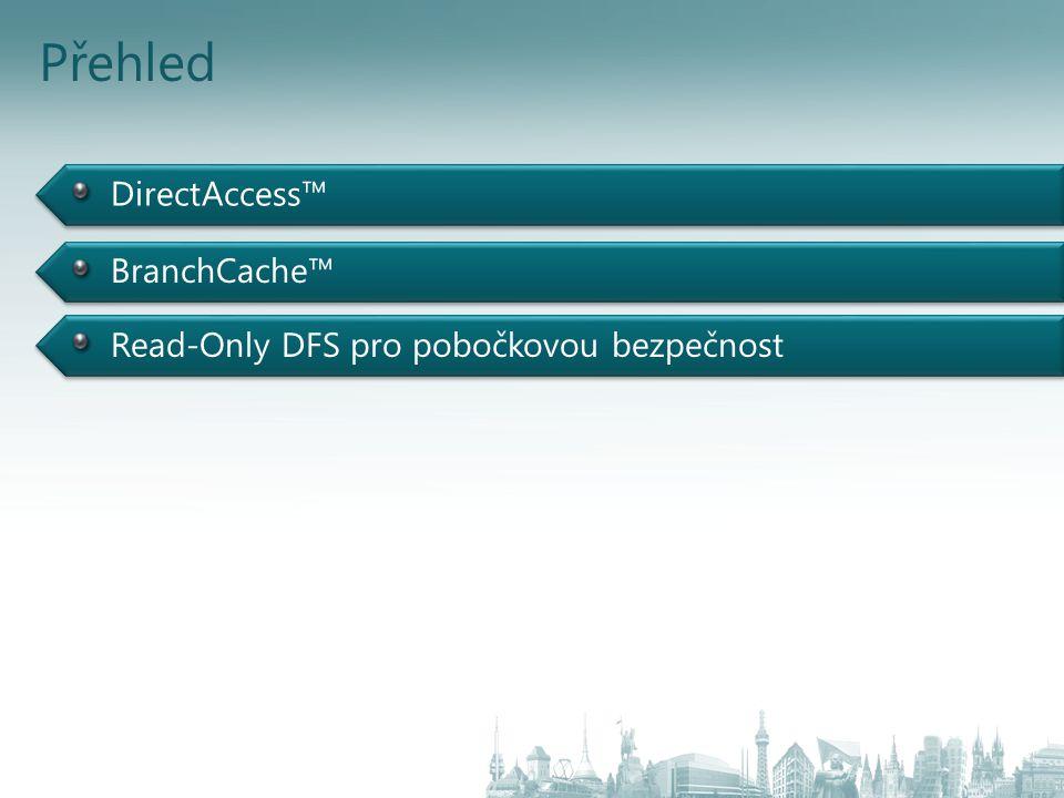 DirectAccess™ Přehled BranchCache™ Read-Only DFS pro pobočkovou bezpečnost