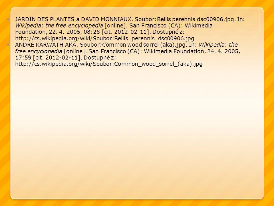 JARDIN DES PLANTES a DAVID MONNIAUX. Soubor:Bellis perennis dsc00906.jpg. In: Wikipedia: the free encyclopedia [online]. San Francisco (CA): Wikimedia