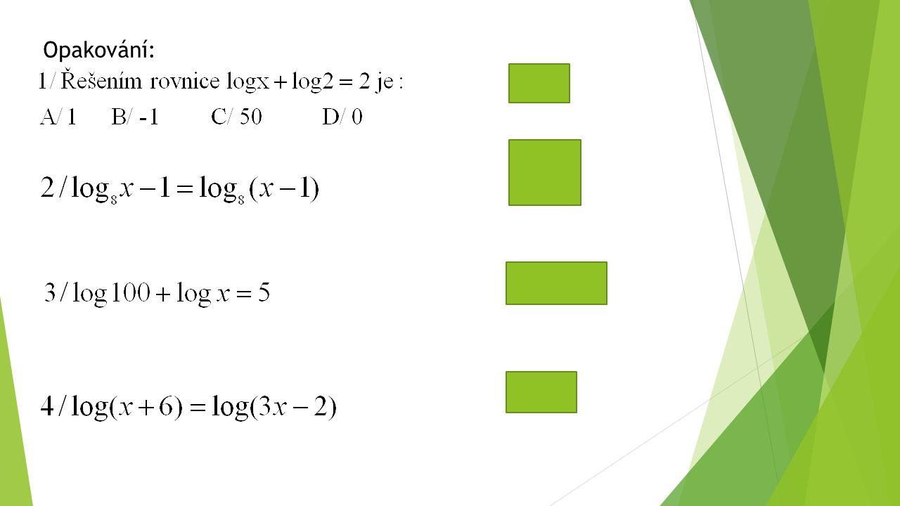 Opakování: C x=1000 x = 4
