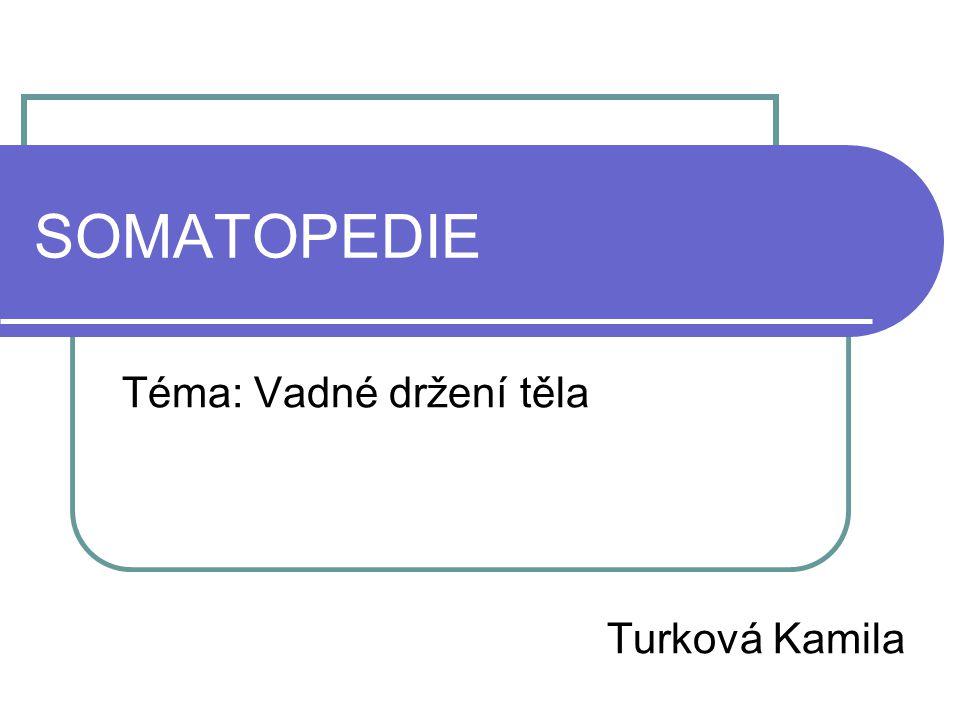 SOMATOPEDIE Téma: Vadné držení těla Turková Kamila