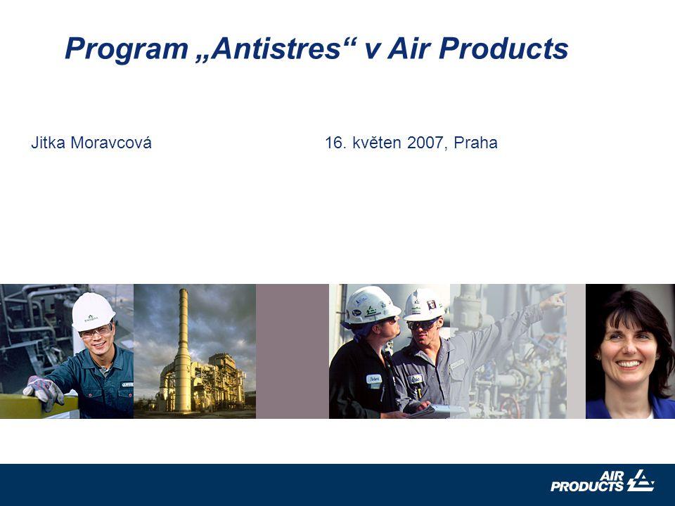 """Jitka Moravcová 16. květen 2007, Praha Program """"Antistres v Air Products"""