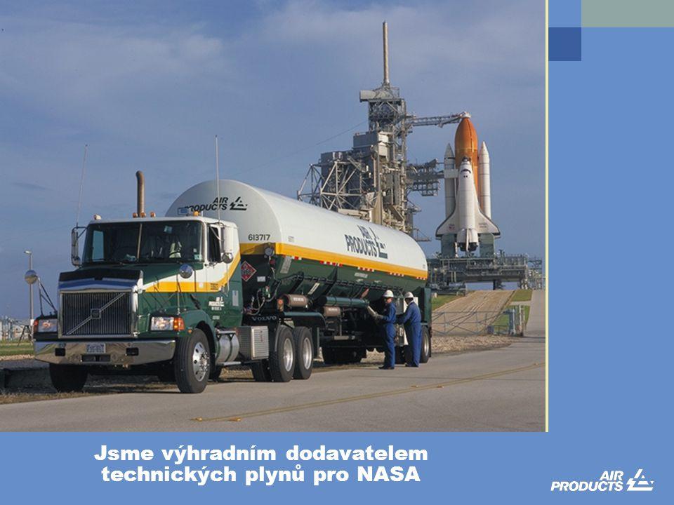 Jsme výhradním dodavatelem technických plynů pro NASA