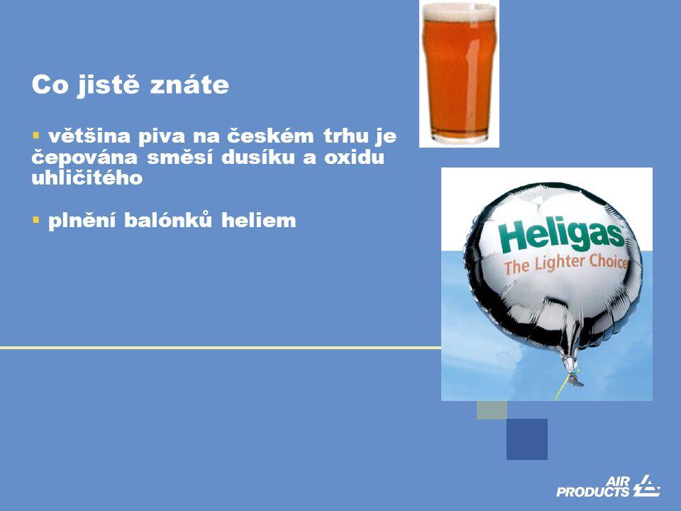 Co jistě znáte  většina piva na českém trhu je čepována směsí dusíku a oxidu uhličitého  plnění balónků heliem