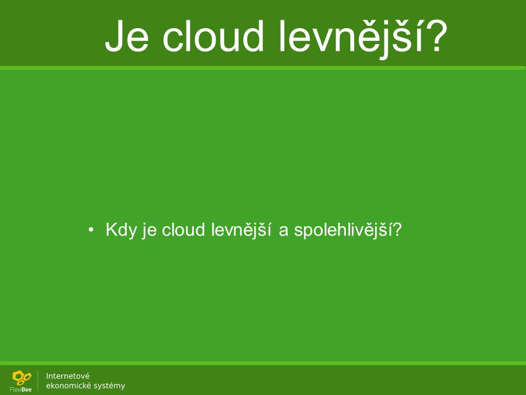 Je cloud levnější Kdy je cloud levnější a spolehlivější