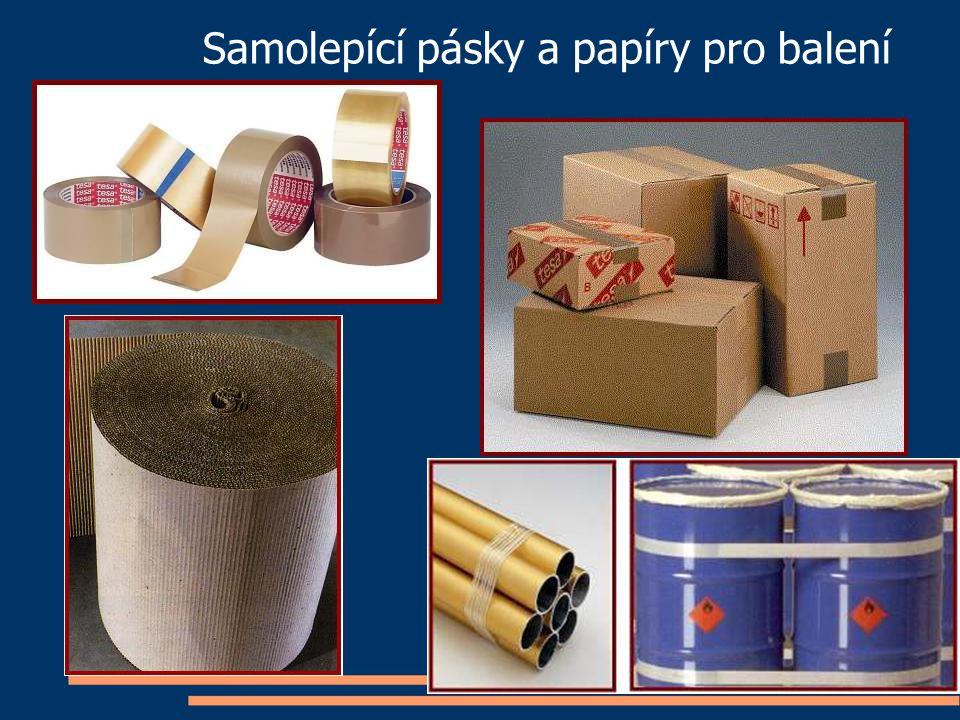 Samolepící pásky a papíry pro balení