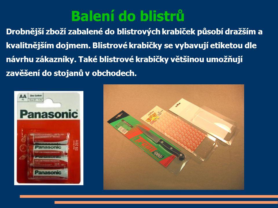 Obalový materiál Výplňové materiály Polyetylenové pytle Polyetylenové pěny Samolepící pásky Papíry pro balení Vysoušecí prostředky Manipulační nálepky