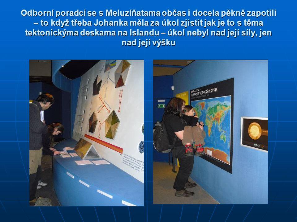 Odborní poradci se s Meluzíňatama občas i docela pěkně zapotili – to když třeba Johanka měla za úkol zjistit jak je to s těma tektonickýma deskama na
