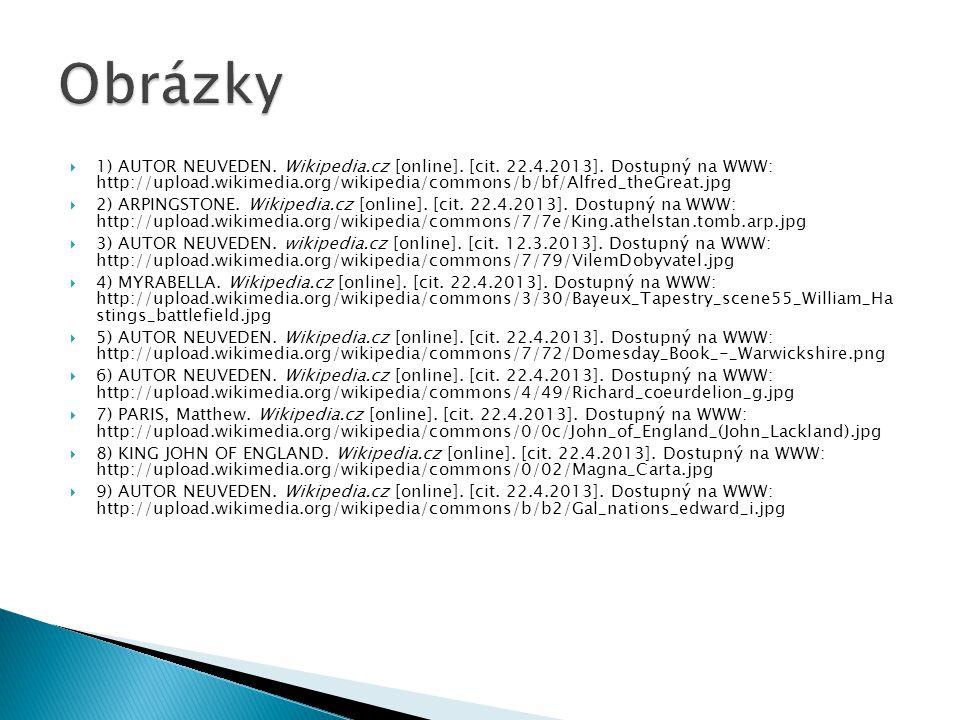  1) AUTOR NEUVEDEN.Wikipedia.cz [online]. [cit. 22.4.2013].