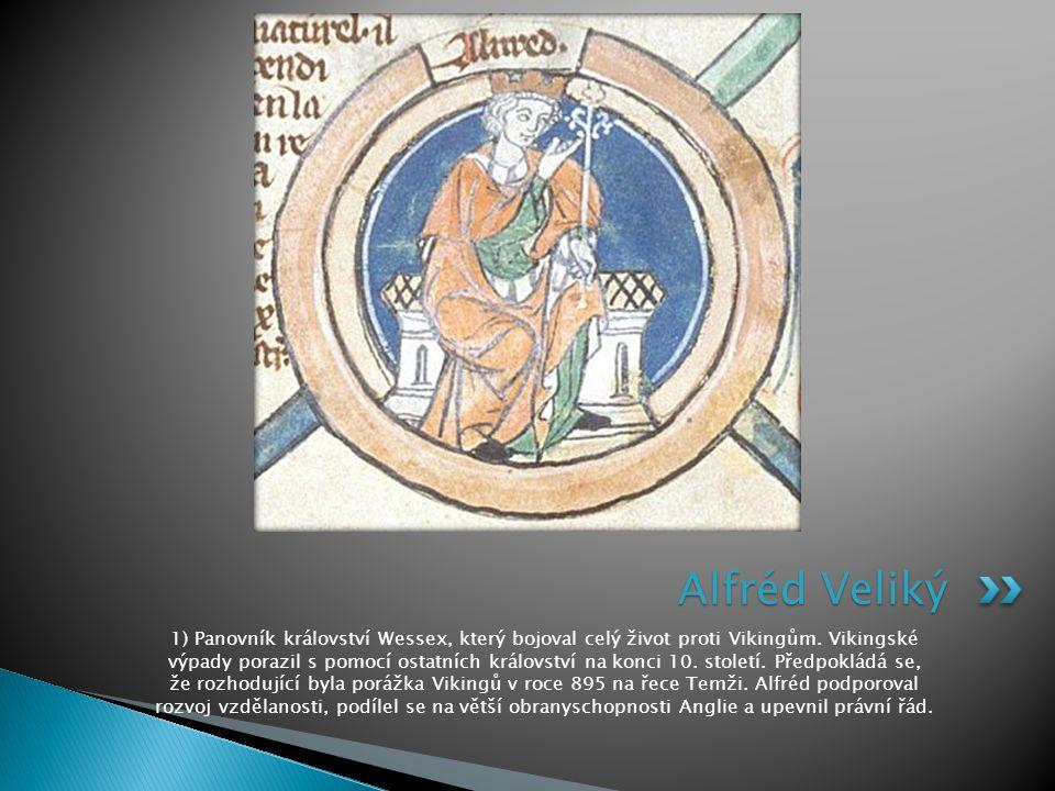 2) Náhrobek krále Ethelstana v Malmesbruském opatství.