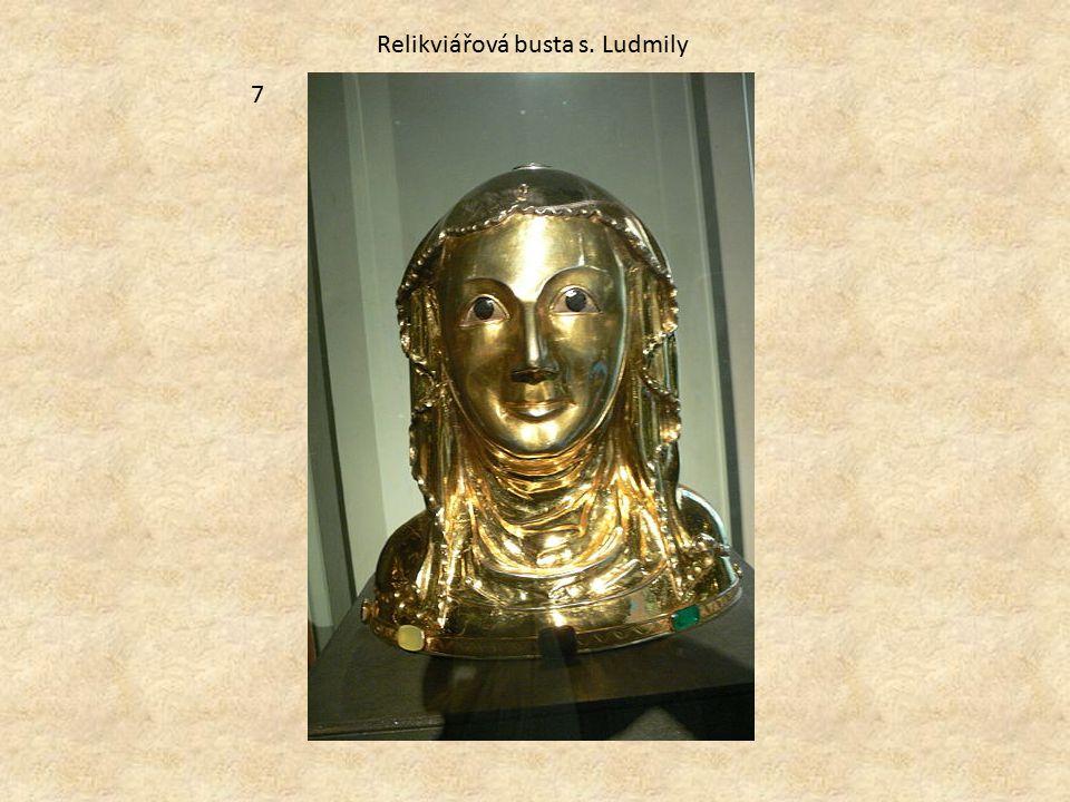 Relikviářová busta s. Ludmily 7