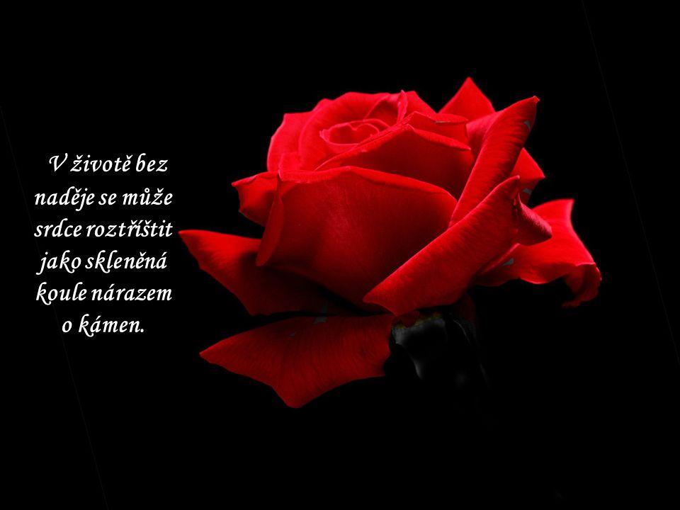 V životě bez naděje se může srdce roztříštit jako skleněná koule nárazem o kámen.