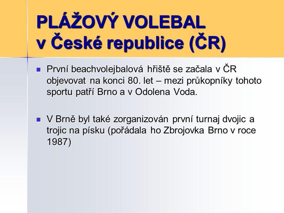 PLÁŽOVÝ VOLEBAL v České republice (ČR) V roce 1991 se uskutečnil 1.
