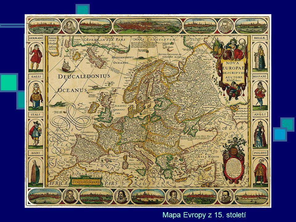 Mapa Evropy z 15. století