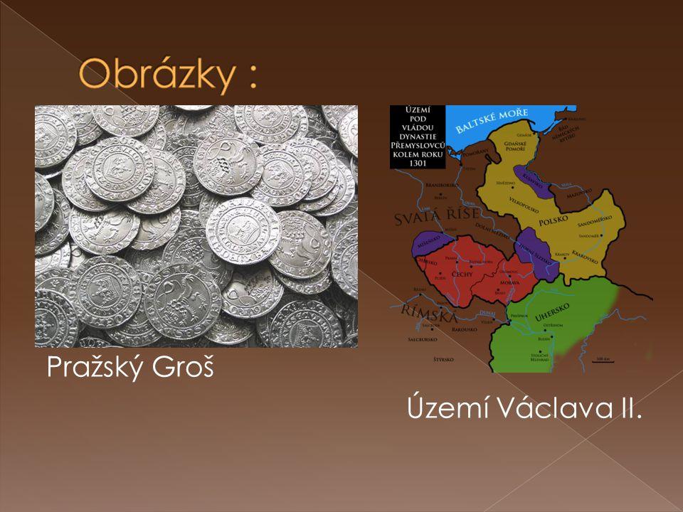 Pražský Groš Území Václava II.