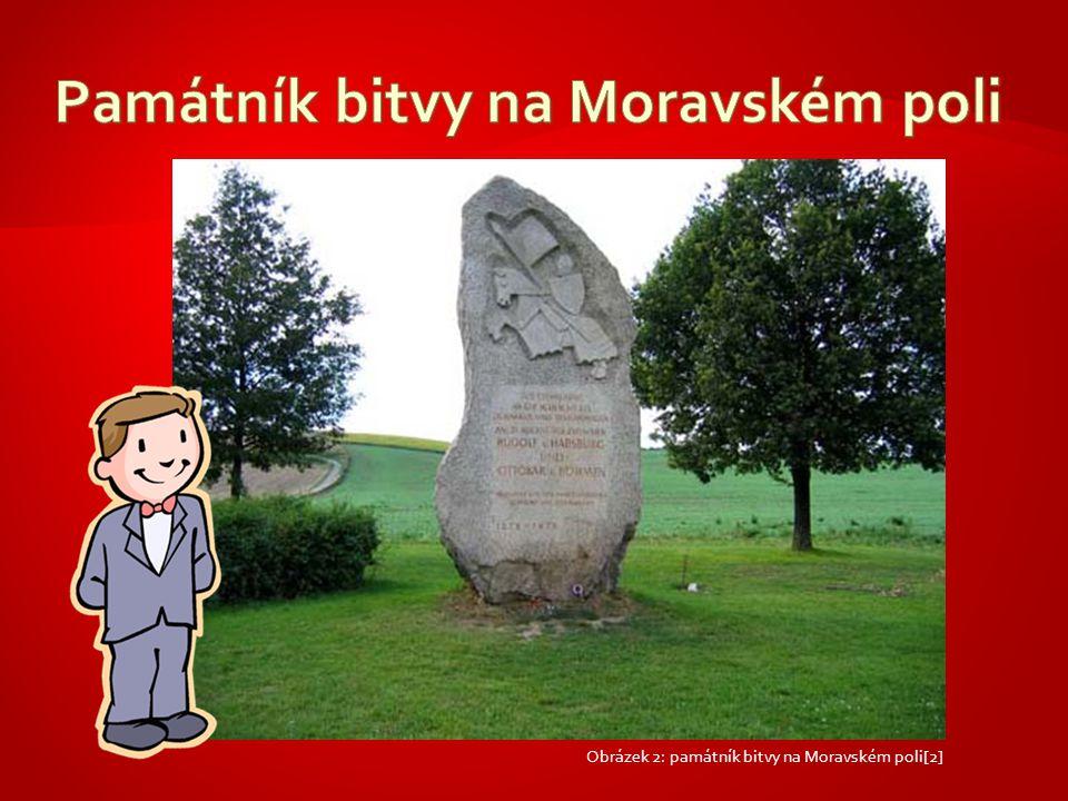 Obrázek 2: památník bitvy na Moravském poli[2]